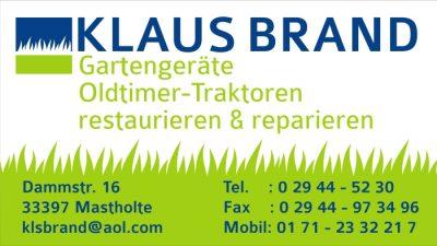 Logo Klaus Brand Gartengeräte